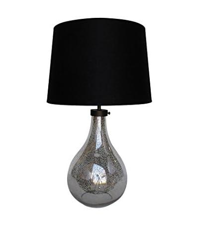 White X White Mason 1-Light Lamp, Antique Silver