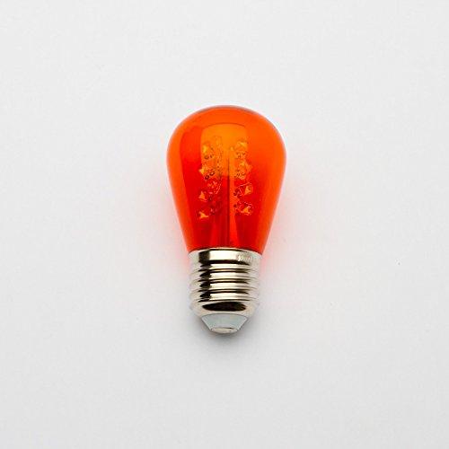Amber S14 Led Bulb - S14 Transparent 16 Led'S - Amber Patio String Bulb