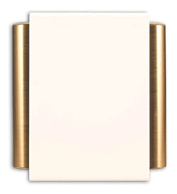 Heath Zenith 50/M-B Wired Door Chime with Off-White Cover and Satin Brass Finish Side Tubes