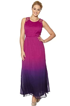 Roman Originals - Womens Dresses Dip Dye Maxi Dress Lace ... - photo #6