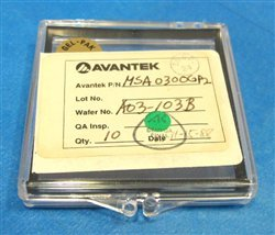 Avantek Msa-0300-Gp2 Madamp Cascadable Silicon Bipolar Monolithic Microwave Integrated Circuit Amplifiers, Tray Of 10