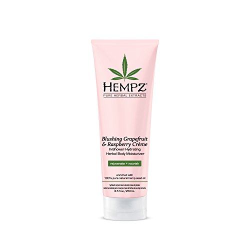 Hempz In-Shower Hydrating Herbal Body Moisturizer, Light Pink, Blushing Grapefruit/Raspberry Creme, 8.5 Fluid Ounce (Shower Tan compare prices)