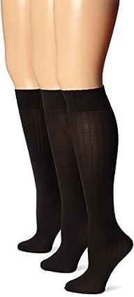 Hue Women's Cable Rib Opaque Knee Hi…