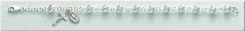 Sterling Silver Rosary Bracelet Bracelets Catholic 6mm Bead 7.5