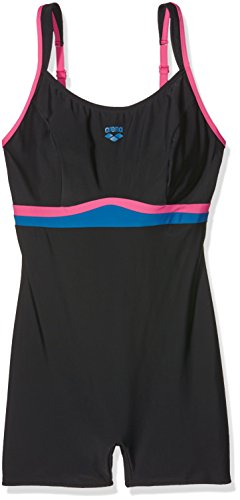 Arena Costume intero da donna Celebrity, Black/fresia shirtzshop/blue, 48 IT