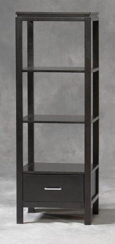 Cheap Linon Sutton Plasma Center TV Stand and Towers Set (84026BLK-01-KD-U-PKG)
