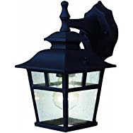 Home Impressions 100W Twin Pack Outdoor Wall Fixture-BLACK OUTDOOR FIXTURE