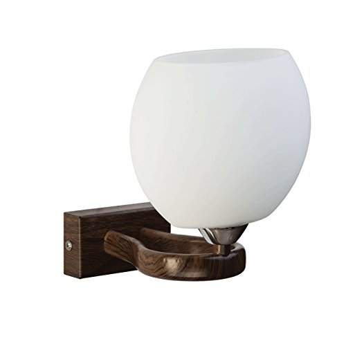Applique style classique, moderne, armature en métal couleur de bois, plafonnier en forme de boule 1 ampoule non-incl. E14 1x60W 230V