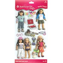 American Girl Summer Fun Doll Stacked Stickers