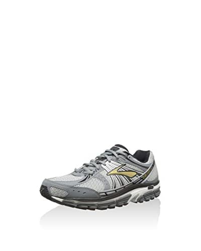 Brooks - Scarpe sportive - Running, Uomo, Grigio (Gold/Pavement/Black/Silver/White), 45 EU