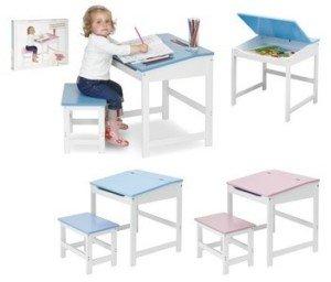 Pupitre bureau et banc de travail en bois pour enfant avec - Bureau en bois enfant ...