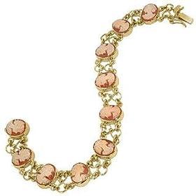 Del Gatto Cameo 18K Gold Link Bracelet