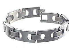 Dolan Bullock Tuscany Steel, Titanium & 18k Gold Bracelet