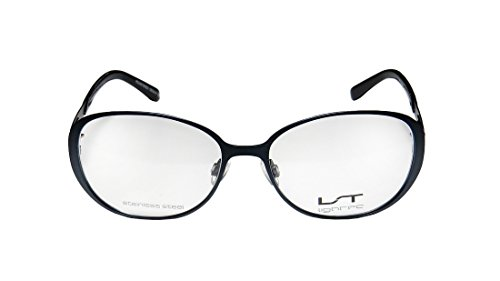 Lightec 7010l Mens/Womens Rx Ready Beautiful Butterfly Full-rim Eyeglasses/Spectacles (53-16-135, Navy) (Joseph Smith Ring compare prices)