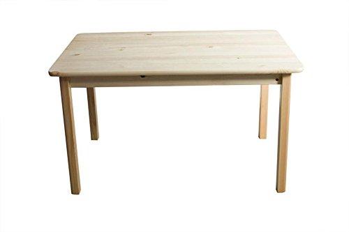 Massivholz Tisch 80x50 cm Kiefer, Farbe: Natur