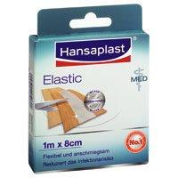 Hansaplast MED Elastic 1 m x 8 cm, 10 St
