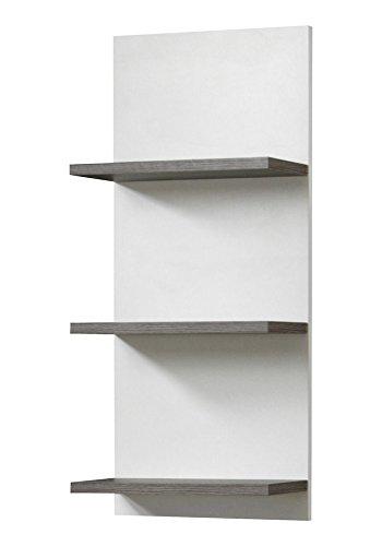 SCHILDMEYER Regal »Cadiz«, Breite 30 cm 70 cm x 17.5 cm x 30 cm, eschefarben grau, weiß