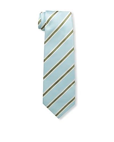 Kiton Men's Striped Tie, Blue/Yellow