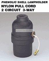 shell lampholder pull cord nylon black light sockets. Black Bedroom Furniture Sets. Home Design Ideas