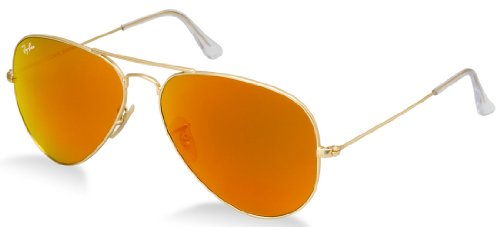 86d3a79ad0 Ray-Ban RB3025 112 69 Flash Mirror-Matte Gold Frame Orange Mirror Lens 58mm  (MEDIUM SIZE)