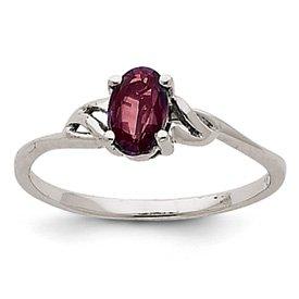 Genuine IceCarats Designer Jewelry Gift 14K White Gold Rhodolite Garnet Birthstone Ring Size 7.00