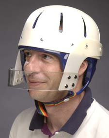 Hard Shell Helmet with Face bar - Tan, small