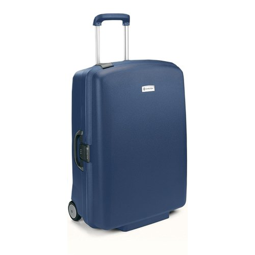 Carlton Glider II Hard PP 2 Wheel Trolley Case 77cm in Indian Teal Blue
