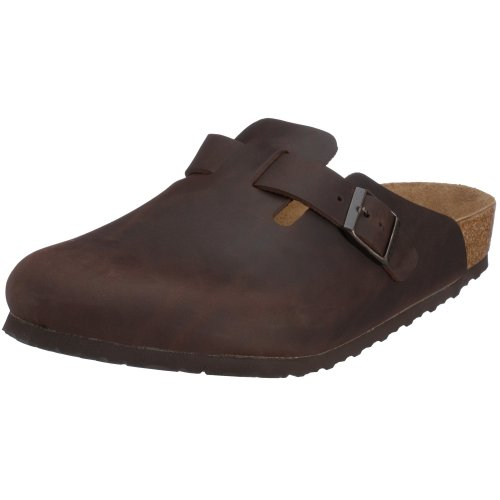 Birkenstock Boston Natural Leather, Style-No. 860131, Unisex Clogs, Habana, EU 44, normal width