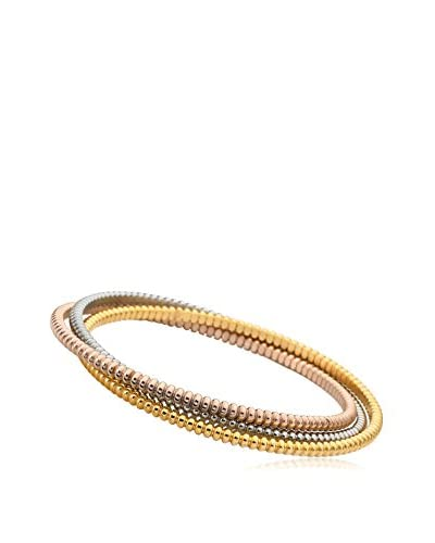 Riccova Country Chic 3 Tone Plated Roped Set of 3 Bangles 65 mm