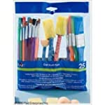 Plaid 44249 Craft Brush Pack, 25 Pieces