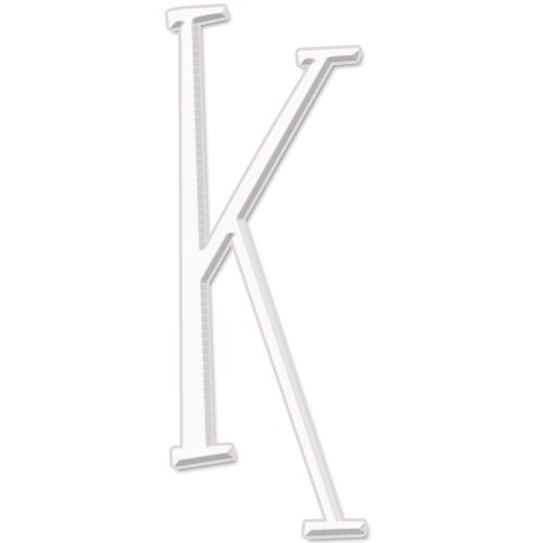 aBaby Whimsical Letter, K, White