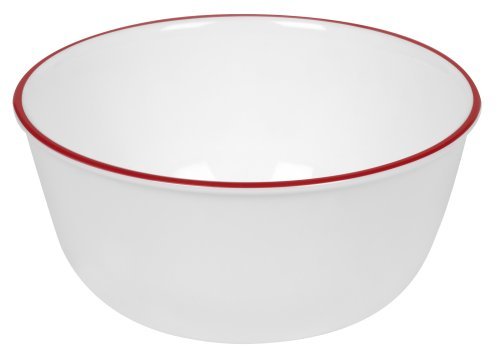 Corelle Livingware 28-ounce Super Soup/cereal Bowl, Red Band Picture