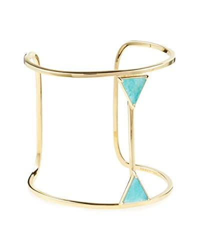 Elizabeth and James Gold-Plated Metropolis Double Triangle Amazonite Cuff