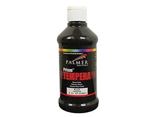 Palmer 378993 Prism Tempera Poster Paint 8 Ounces-Black - 1