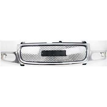 Diften 102-A1023-X01 - New Grille Assembly Chrome GMC Yukon Denali 2006 2005 XL GM1200510 19130789 (2006 Denali Yukon Xl compare prices)