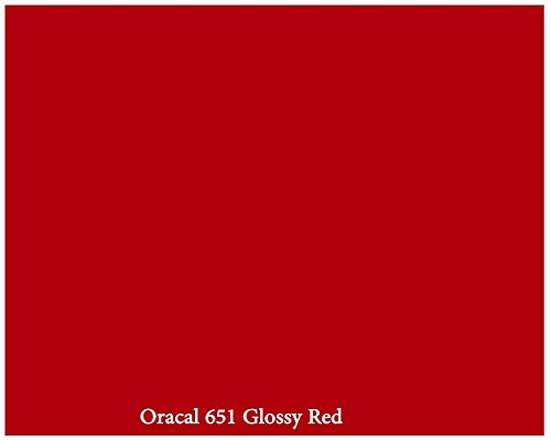 Red Glossy 12inch x 10ft Roll of Oracal 651 Permanent Adhesive-Backed Vinyl for Craft Cutters, Punches and Vinyl Sign Cutters (Vinyl For Craft Cutters compare prices)