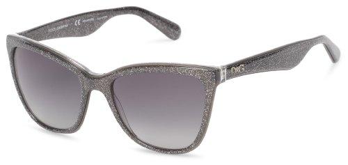 D&G Dolce & Gabbana 0DG4193 2754T356 Polarized Butterfly Sunglasses,Glitter Gray,56 mm