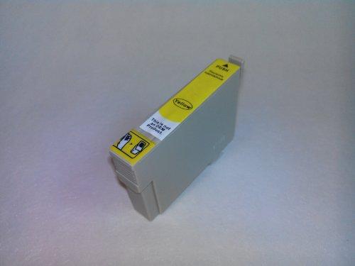 NON-OEM 1 Epson Kompatible Tintenpatrone T071, T0714 Gelb für Druker STYLUS D120, D78, D92, DX400, DX4000, DX4050, DX4400, DX4450, DX5000, DX5050, DX5500, DX6000, DX6050, DX7000F, DX7400, DX7450, DX8400, DX8450, DX9200, DX9400F, DX9400F WIFI EDITION, OFFICE B40W, OFFICE BX300F, OFFICE BX310FN, OFFICE BX510W, OFFICE BX600FW, OFFICE BX610BFW, S20, S21, SX100, SX105, SX110, SX115, SX200, SX205, SX210, SX215, SX218, SX400, SX400 WIFI, SX405, SX405 WIFI, SX410, SX415, SX417, SX510W, SX515W, SX600FW,
