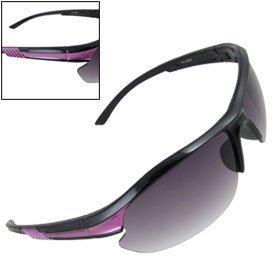 purpura-negro-borde-gafas-deportivas-semi-brazos-de-plastico