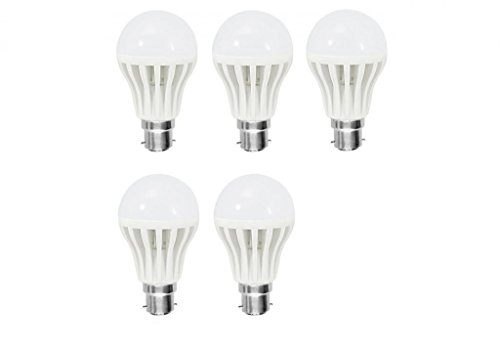 12W B22 LED Bulb (white , Set of 5)