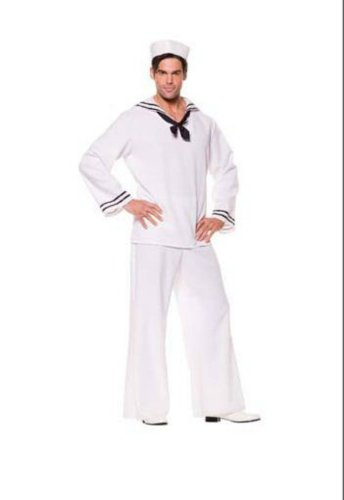 Sailor Shirt White Male Adult Mens Costume