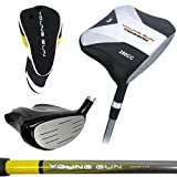 Young Gun Golf Square Junior 3 Wood RIGHT HAND, Red - Ages 9-11