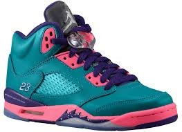 Images for Nike Jordan 5 Retro (PS) Kids Sneakers Tropical Teal/Digital Pink/Court Purple/White 440893-307 (SIZE: 1Y)