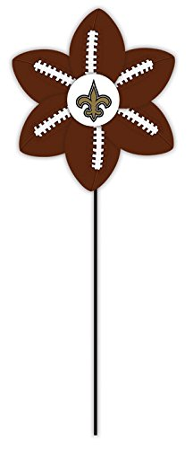 New Orleans Saints Logo Football Garden Wind Spinner - 1