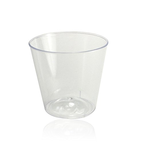 Enimay 1 oz. Plastic Shot Glasses Part Pack Clear 50 Pack - 1