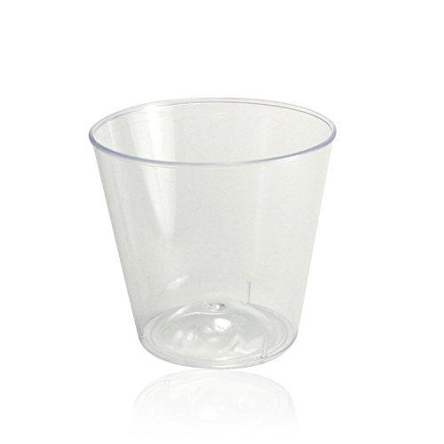 Enimay 1 oz. Plastic Shot Glasses Part Pack Clear 50 Pack