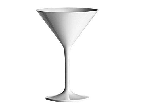 Martini Verre Martini Coque Gobelets réutilisables doimo Flair 230CC en plastique (PC)/Blanc/Set de 2pièces/réutilisables