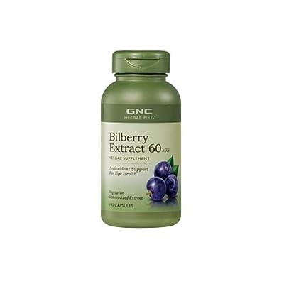 GNC Herbal Plus Bilberry, Vegetarian Capsules, 100 ea