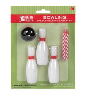 Oasis Supply Wax Bowling Ball Holder with Birthday Candles