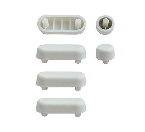 WC-Sitz-Puffer Nr. 11 | Auflagestopfen für Toilettensitz | Abstandhalter für WC-Brille | Dämpfer | Weiß | Kunststoff